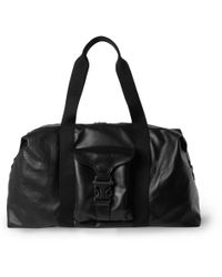 Alexander McQueen Black Leather Holdall - Lyst