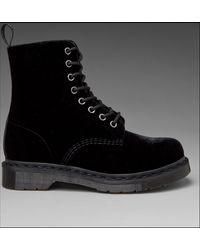 Dr. Martens Page Velvet Boot - Lyst