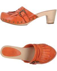 Ash Orange Open-toe Mule - Lyst
