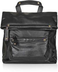 Topshop   Fold Over Backpack   Lyst