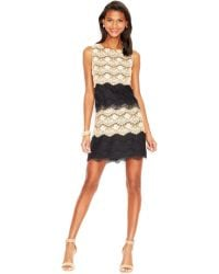 Jessica Simpson Tiered Lace Cocktail Dress - Lyst