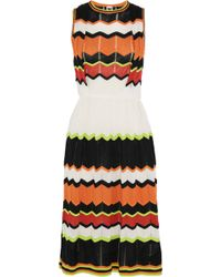 M Missoni Tie-Back Dotted Wave-Print Sundress - Lyst