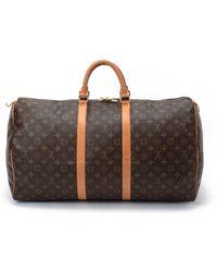 Louis Vuitton Monogram Keepall 55 Travel Bag - Lyst