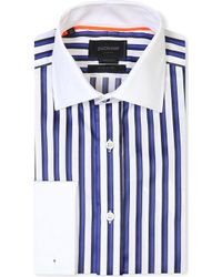 Duchamp Tailored-fit Striped Double-cuff Shirt - Lyst