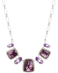 Judith Jack Sterling Silver Crystal Frontal Necklace - Lyst