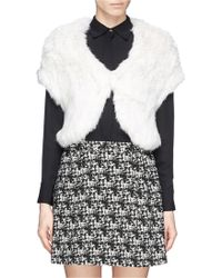 Alice + Olivia Warok Rabbit Fur Shrug - Lyst