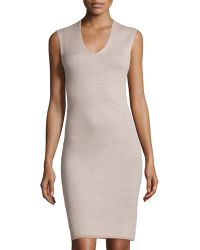Todd And Duncan - Cashmere Rose-pattern Sheath Dress - Lyst