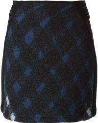 Kenzo Checked Mini Skirt - Lyst