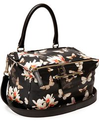 Givenchy Pandora Magnolia-print Medium Satchel Bag - Lyst