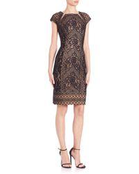 Tadashi Shoji | Mixed Lace Cocktail Dress | Lyst