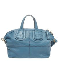 Givenchy Blue Leather Nightingale Mini Convertible Bag - Lyst