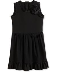 Lanvin Sleeveless Fit-and-flare Dress W/ Flower - Lyst