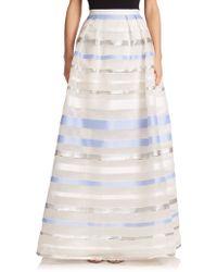 Kay Unger Striped Ball Skirt multicolor - Lyst