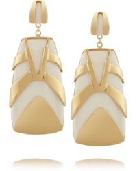 Maiyet - Tiger Stripe Gold-Plated Resin Earrings - Lyst