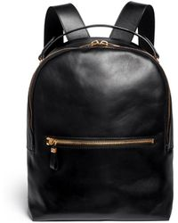 ec31a1300095 Sophie Hulme - Round Leather Backpack - Lyst