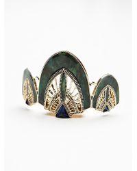 Free People Art Deco Bun Pin - Green