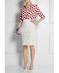 Burberry Prorsum - Polka-dot Linen Shirt - Lyst