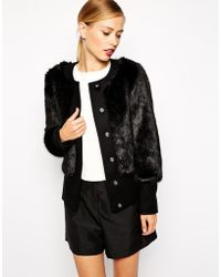 Ted Baker Coat in Faux Fur - Lyst