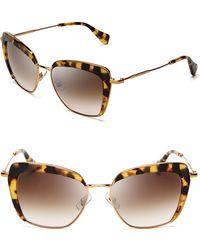 Miu Miu Frame Evolution Oversized Cat Eye Sunglasses - Lyst