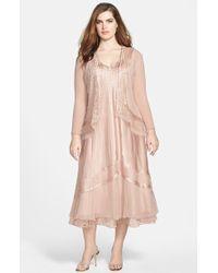 Komarov Hand-Pleated Dress and Jacket - Lyst