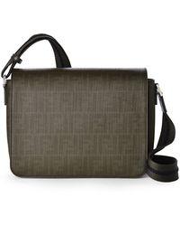 Fendi Green Small Messenger Bag - Lyst