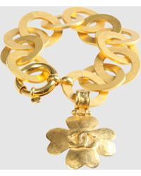 Chanel Bracelet gold - Lyst