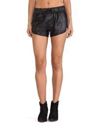 Capulet Leather Gym Shorts - Lyst