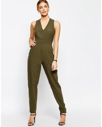 Love - Tailored Cross Back Jumpsuit - Lyst