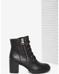 Nasty Gal Steve Madden Noodles Leather Boot - Lyst