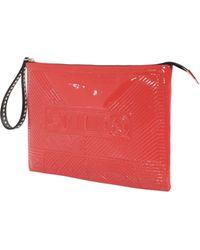 Corto Moltedo Cassette Big Clutch Red Patent orange - Lyst