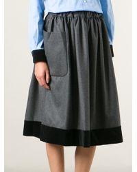 Comme Des Garçons Contrasted Hem Skirt - Lyst