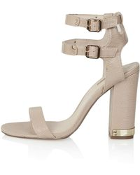 Topshop Rodeo Double Strap Sandals - Lyst