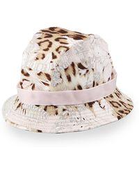 Roberto Cavalli - Leopard & Floral-Print Canvas Bucket Hat - Lyst