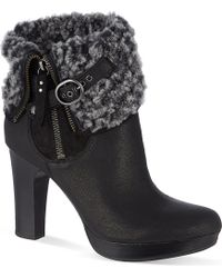 Ugg Scarlett Heeled Ankle Boots - Lyst