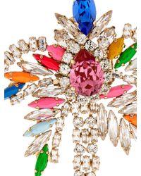 Shourouk - Flamingo Crystal Brooch - Lyst