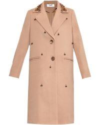 MUVEIL - Embellished Twill Coat - Lyst