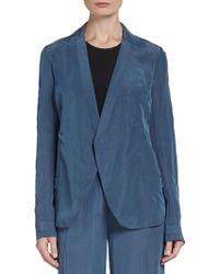 Donna Karan New York Relaxed Seam-Detailed Jacket - Lyst