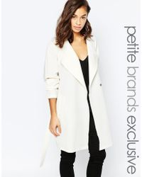 Noisy May Petite - Trench Coat - White - Lyst