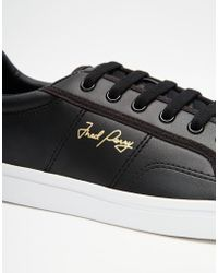 Stussy Sidespin Leather Sneakers - Black
