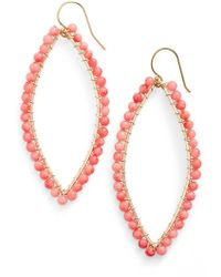 Ki-ele 'lani' Drop Earrings - Coral - Lyst