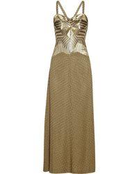Missoni Sequin-Paneled Chevron-Knit Gown - Lyst