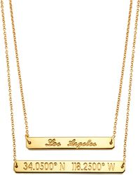Coordinates Collection - 22k Gold-plated Layered Equator Pendant Necklace - Lyst