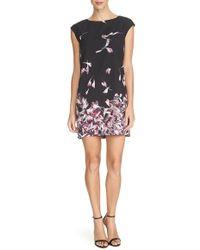 Cynthia Steffe | 'kelly' Petal Print Jersey Shift Dress | Lyst