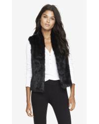 Express Faux Fur Vest - Black