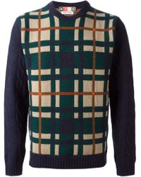 MSGM Checked Sweater - Lyst