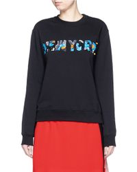 MSGM | 'new York' Embellished Slogan Sweatshirt | Lyst