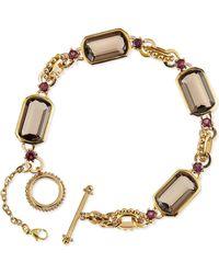 Stephen Dweck Smoky Quartz and Rhodolite Garnet Link Bracelet - Lyst