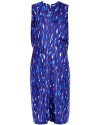 Balenciaga Abstract-Print Silk Dress - Lyst