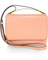 Marni Triple-gusset Shoulder Bag with Metal Handle - Lyst
