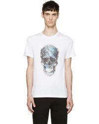 Alexander McQueen White Marble Skull T_Shirt - Lyst